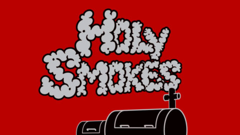 Holy Smokes BBQ Team Logo