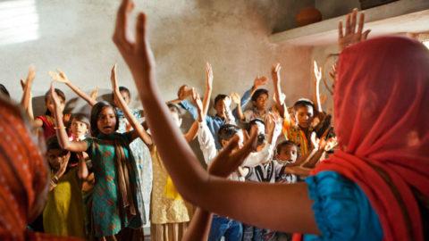 Photo of Indian Children in Prais