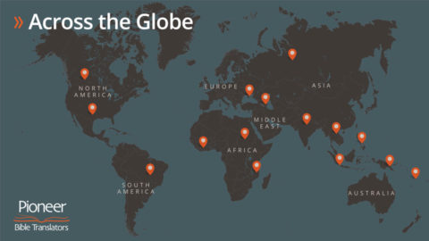 Pioneer Bible Translators World Map Image